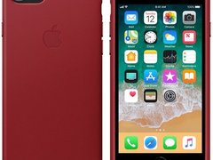 Husa protectie spate Apple piele red pt iPhone 8/7